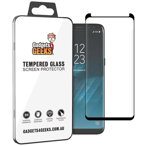 Case Ready Tempered Glass Screen Protector - Samsung Galaxy S8 - Black